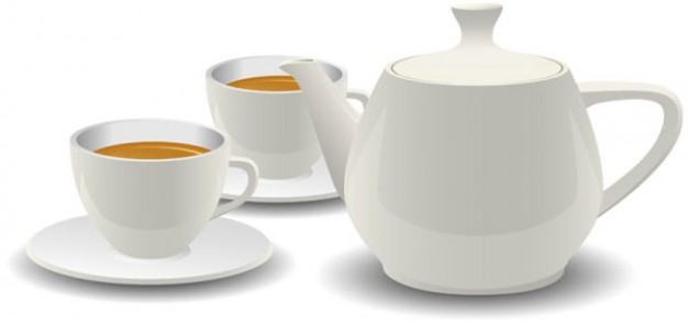 white-porcelain-tea-sets-vector
